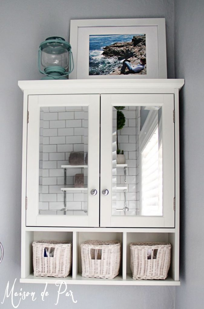 15 Classy Bathroom Hacks 2 Hanging Cabinet Diy And Crafts Home