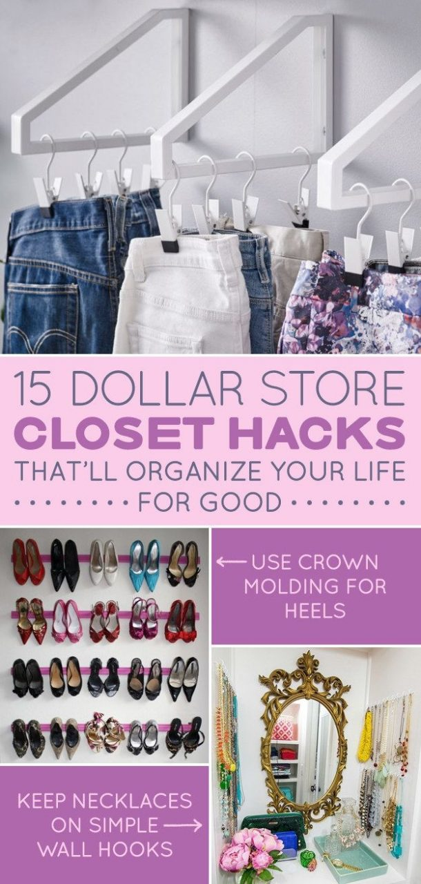 15 Dollar Store Closet Hacks If You Have Way Too Much Shit 15
