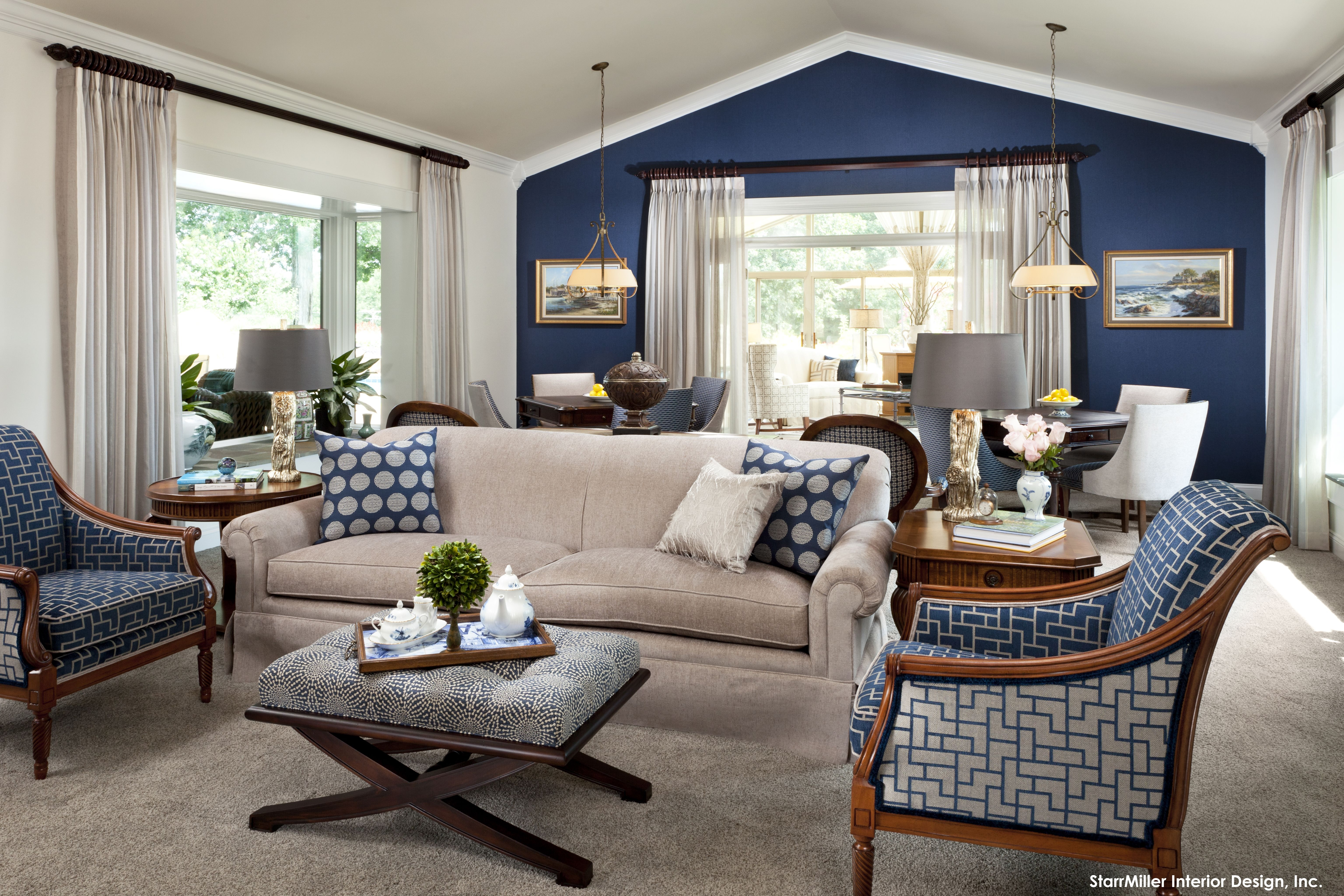 lovely copper blue living room   15 Lovely Living Room Designs With Blue Accents Pinterest ...