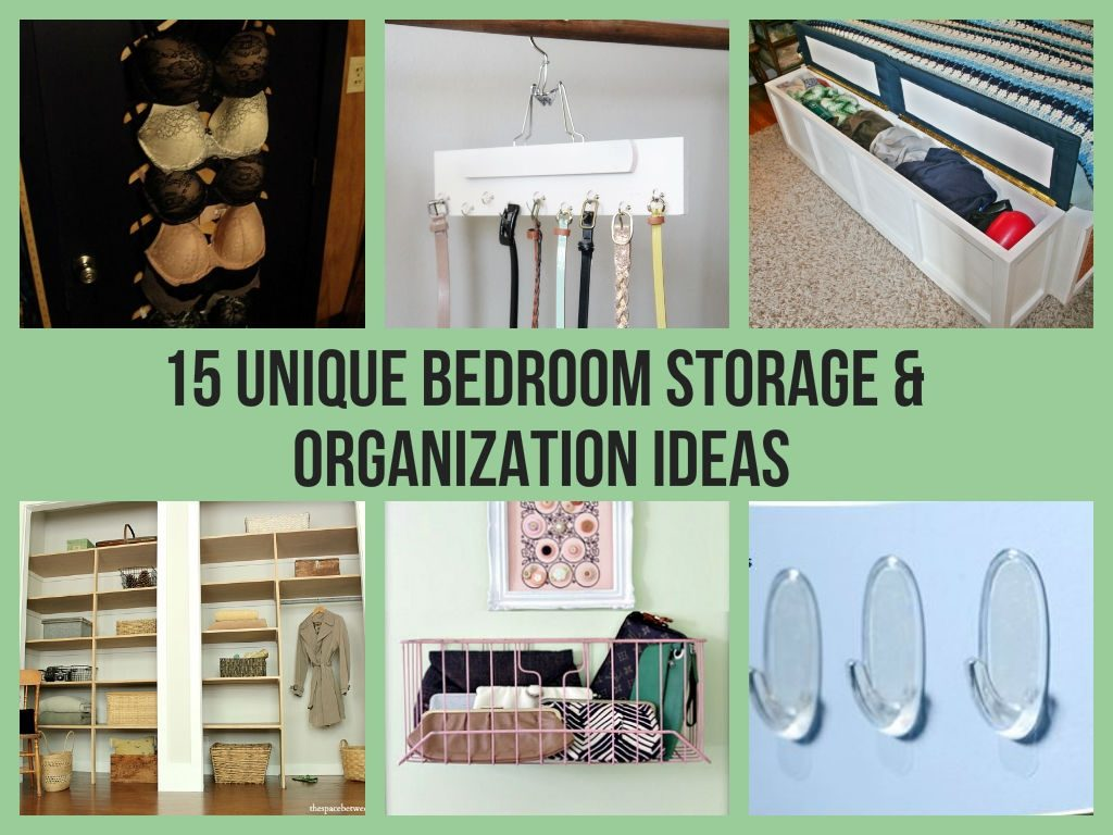 15 Unique Bedroom Storage Organization Ideas