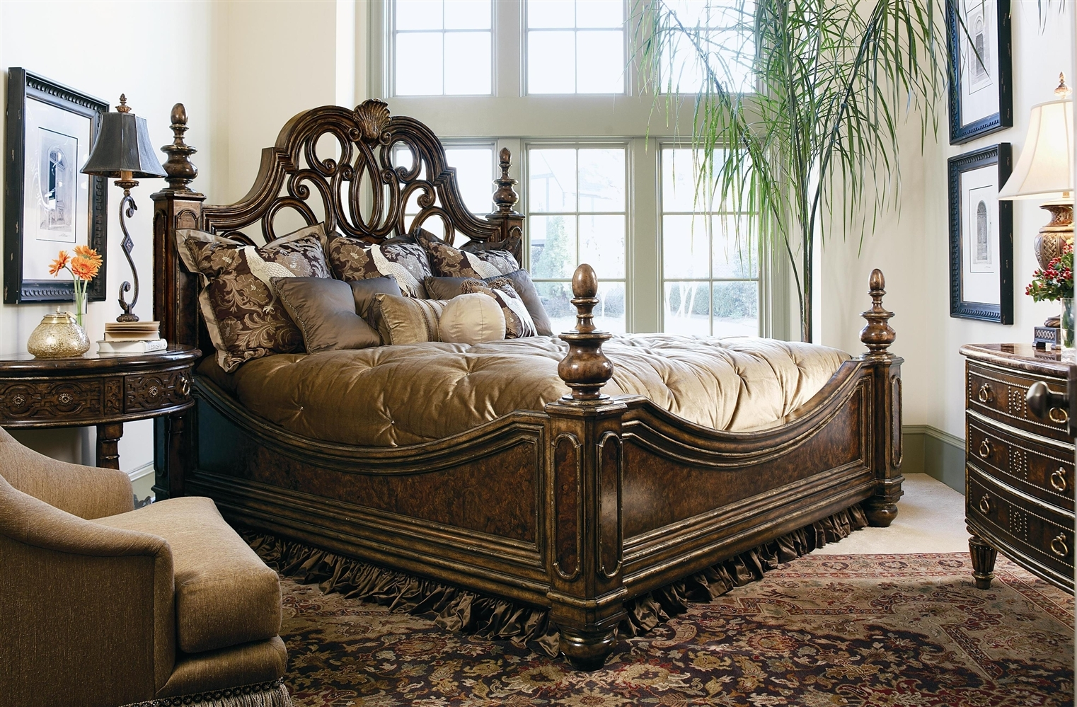 2 High End Master Bedroom Set Manor Home Collection