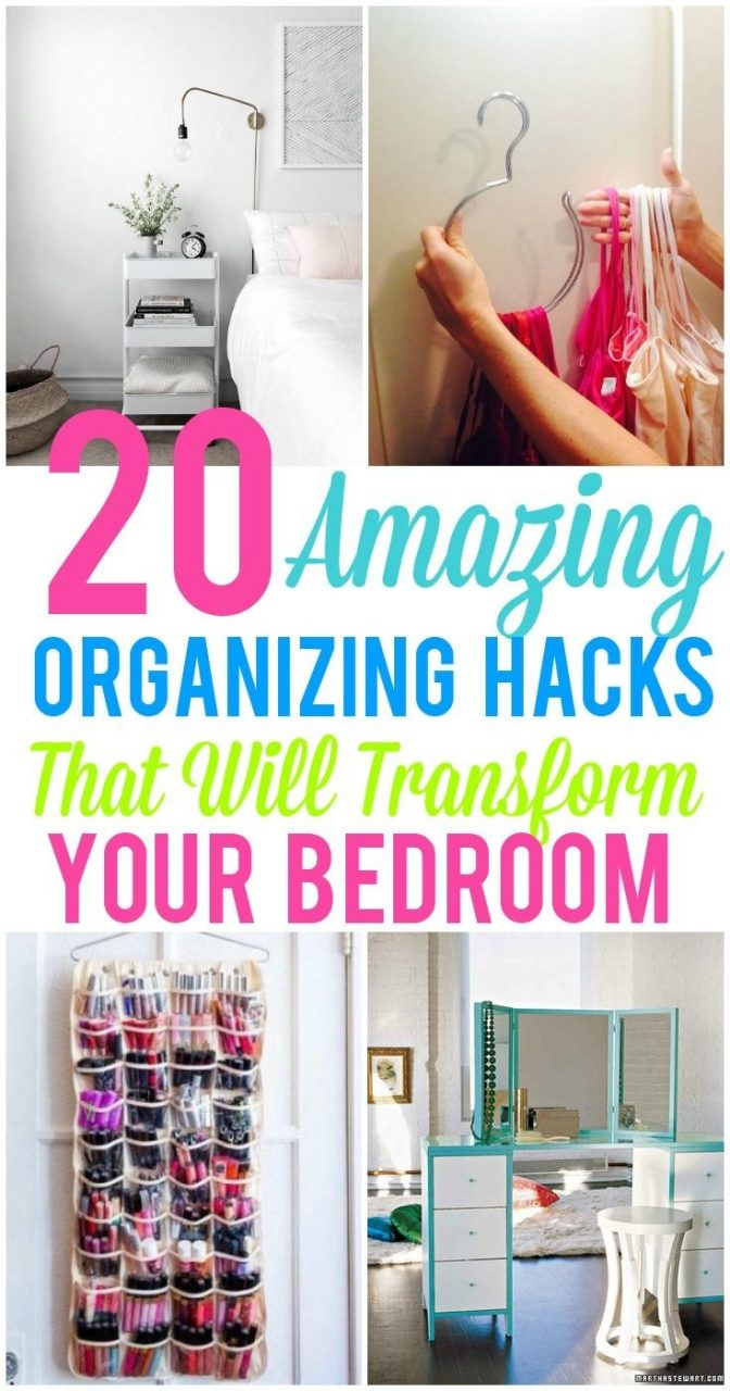 20 Amazing Organization Hacks That Will Transform Your Bedroom