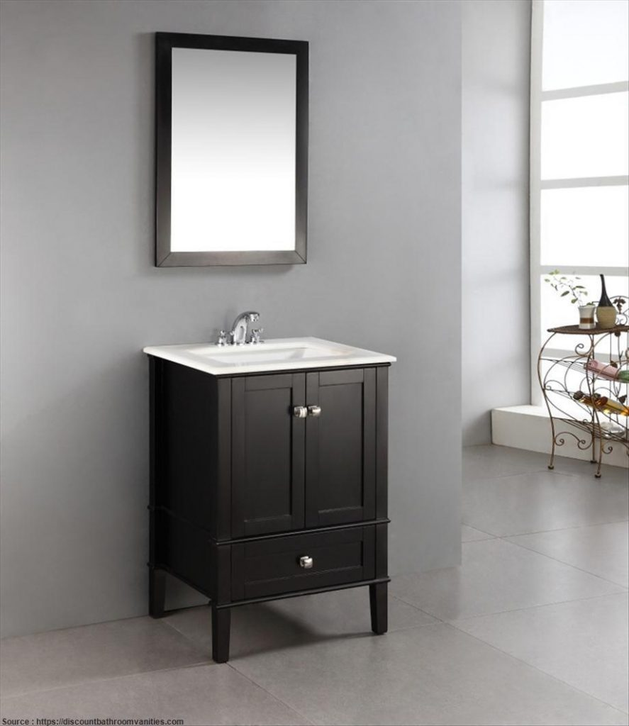 24 Inch Black Bathroom Vanity