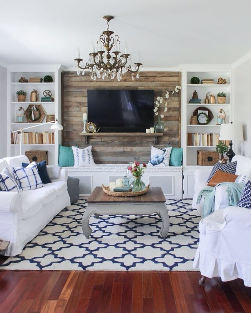 27 Best Rustic Chic Living Room Ideas And Designs For 2018