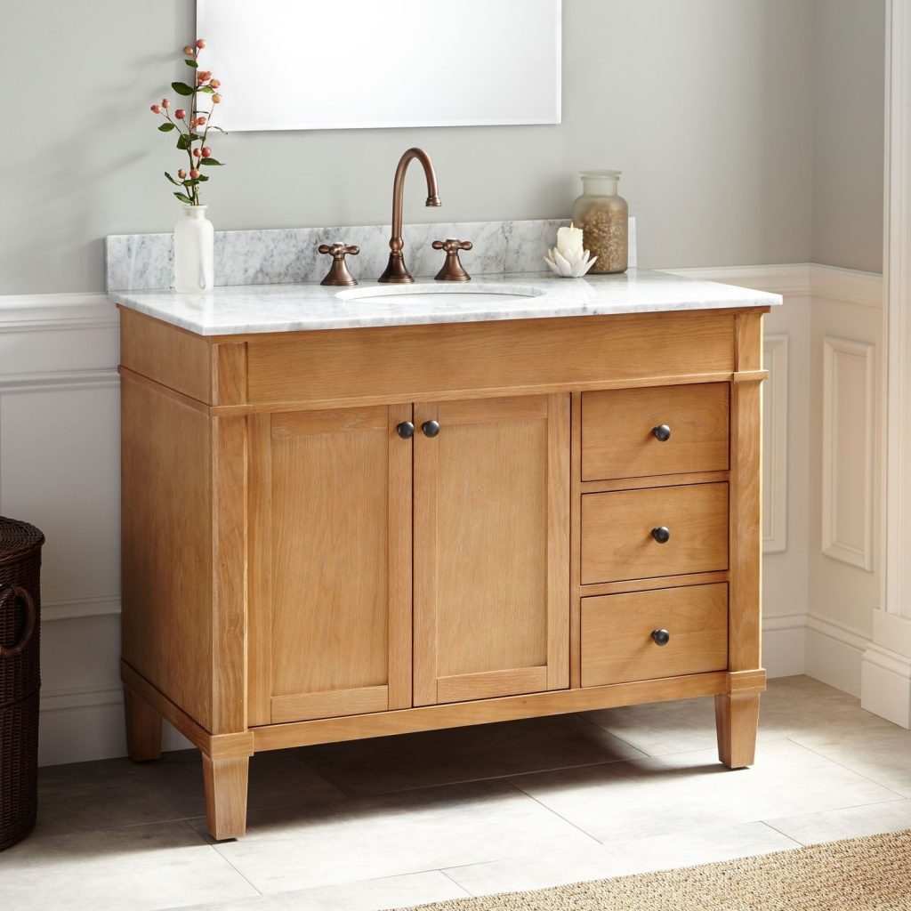 42 Marilla Oak Vanity Undermount Sink Bathroom Vanity Units And
