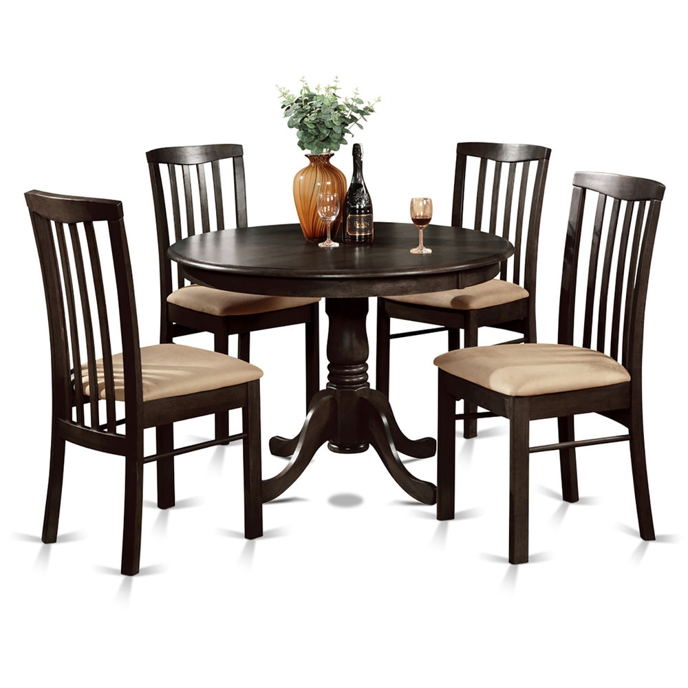 5 Piece Dining Table Round Table And 4 Dining Chairs Ebay Dining