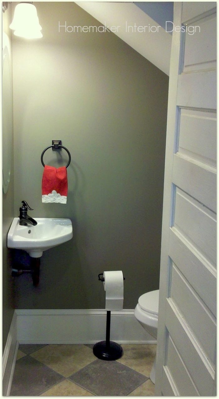 50 Best Powder Room Underneath Stairs Images On Pinterest