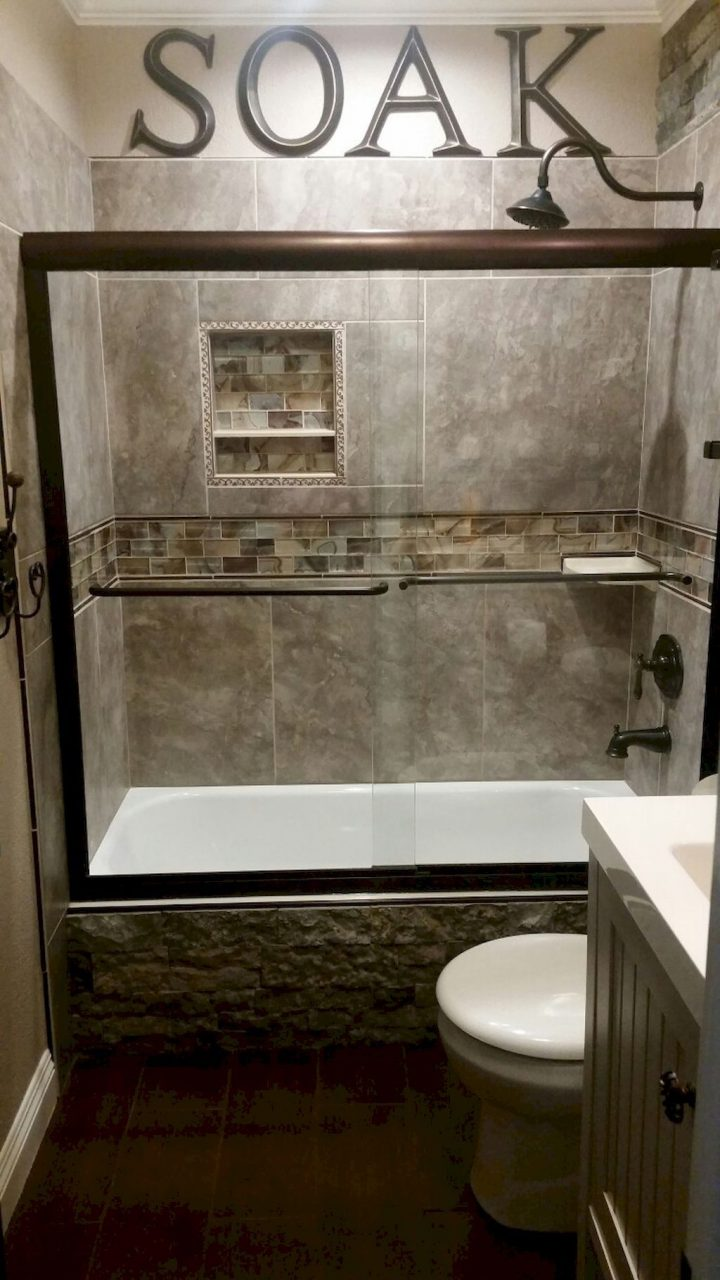 55 Cool Small Master Bathroom Remodel Ideas Pinterest Master