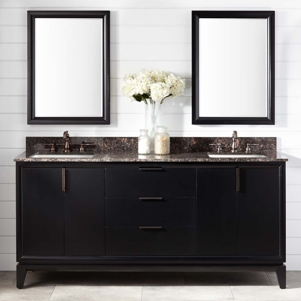 72 Talyn Mahogany Double Vanity For Rectangular Undermount Sinks