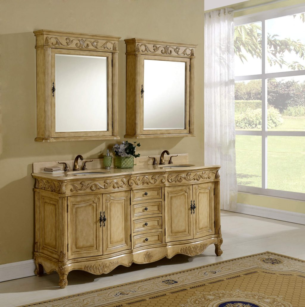 72 Tuscany Tan Bathroom Vanity Antique Recreations