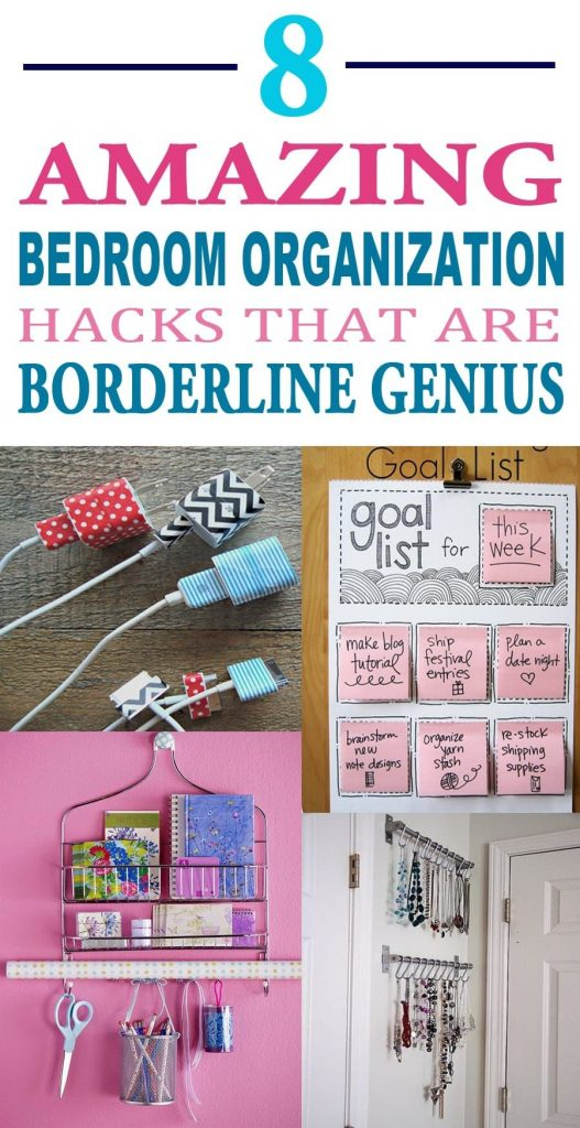 8 Amazing Bedroom Organization Hacks That Are Borderline Genius