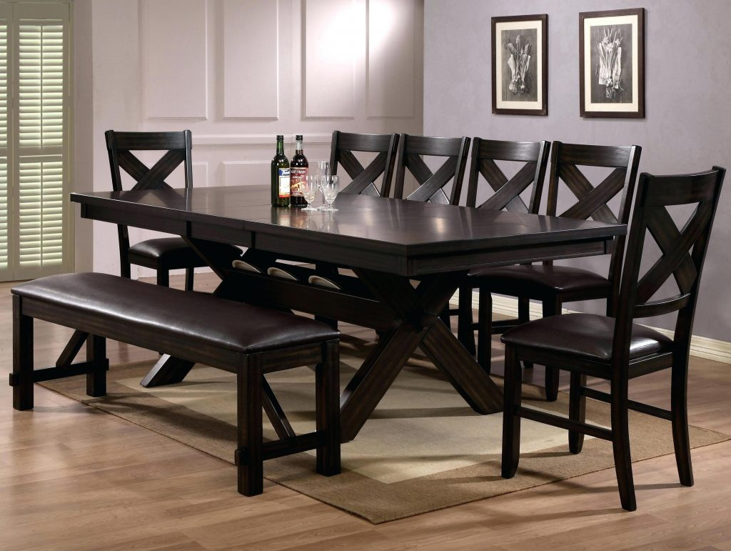 8 Piece Dining Room Set Crown Mark 8 Piece Dining Table Chair Bench