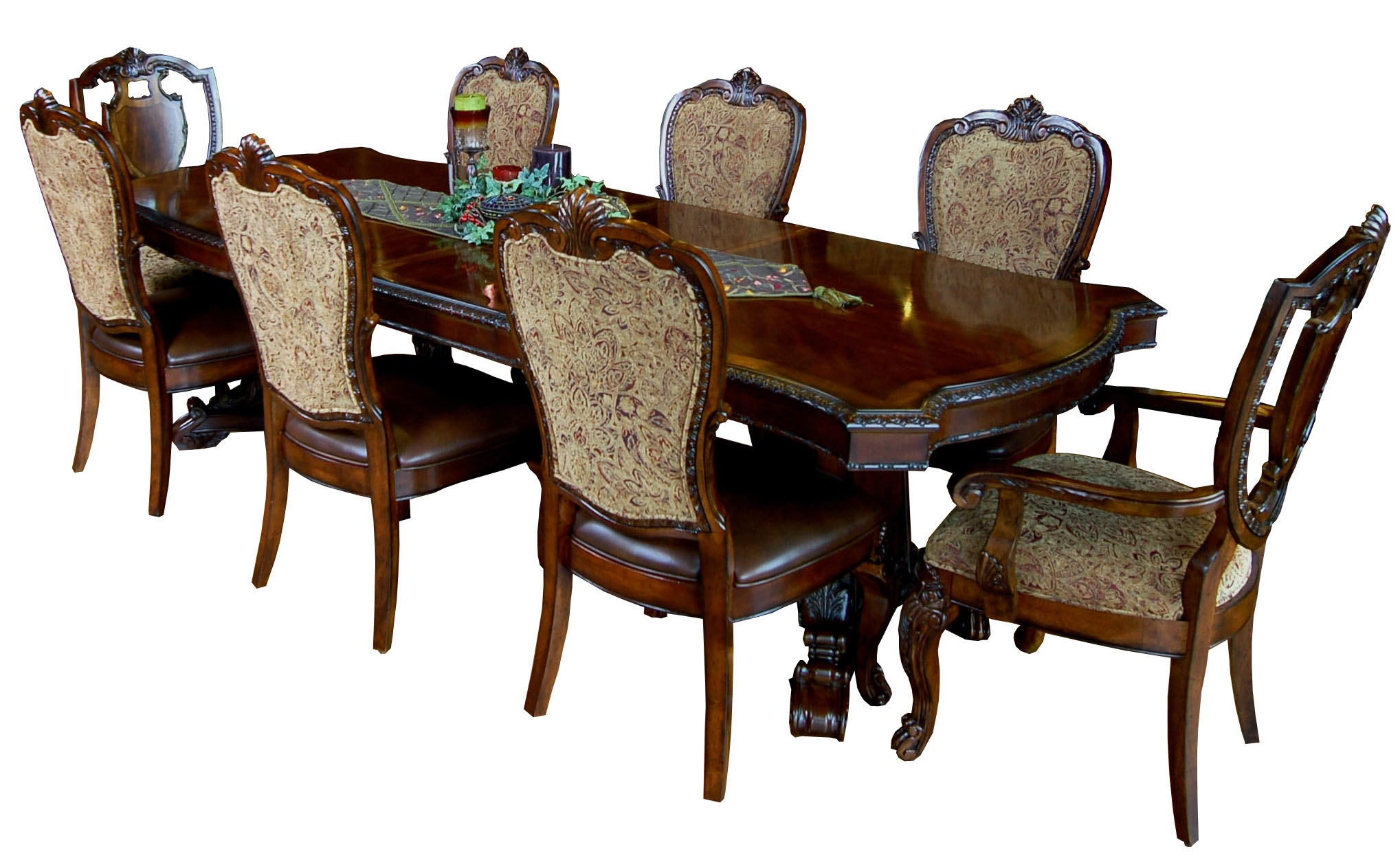9 Piece Old World Dining Table And Chair Set Ebay Dining Tables ...