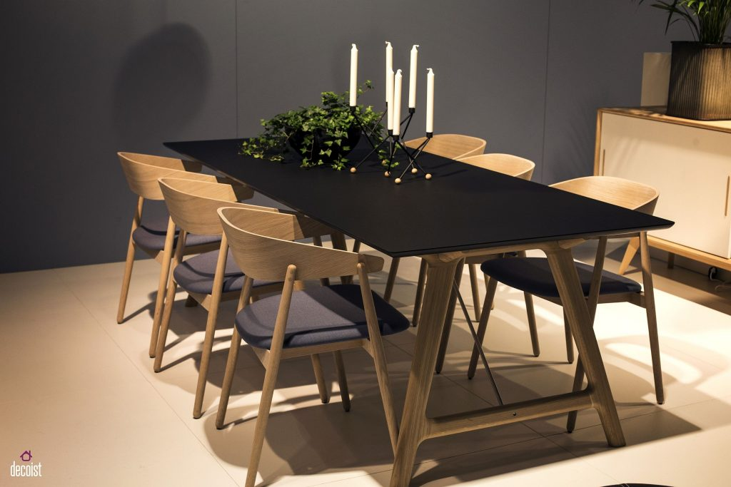A Natural Upgrade 25 Wooden Tables To Brighten Your Navy Blue Dining