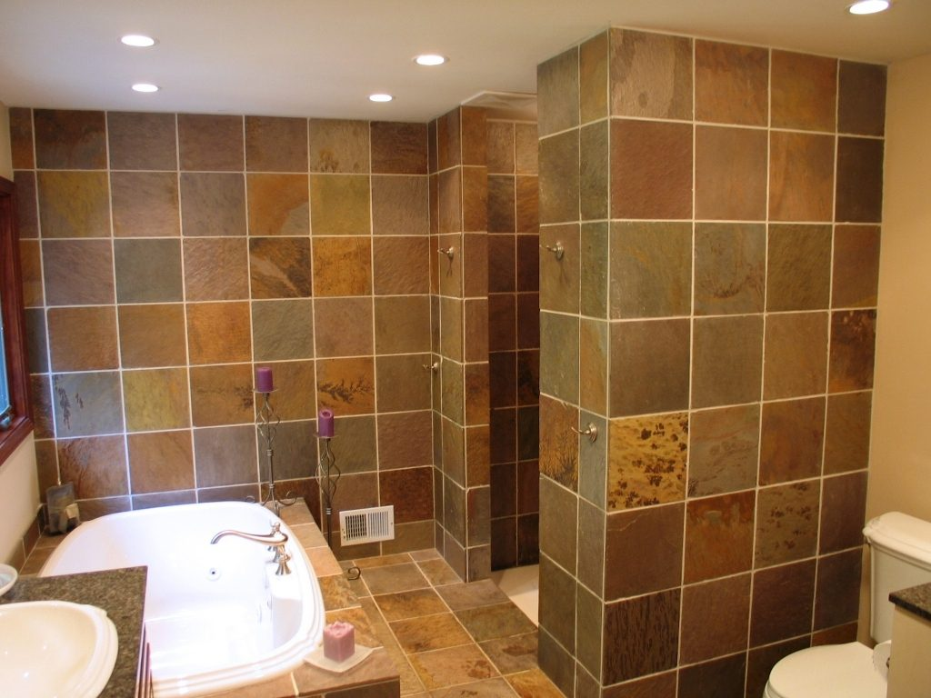 A Slate Master Bath Renovation In Indianapolis Wrightworks Llc