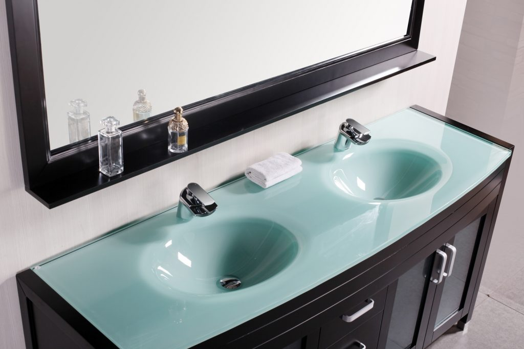 Adorna 72 Inch Modern Double Sink Bathroom Vanity Set