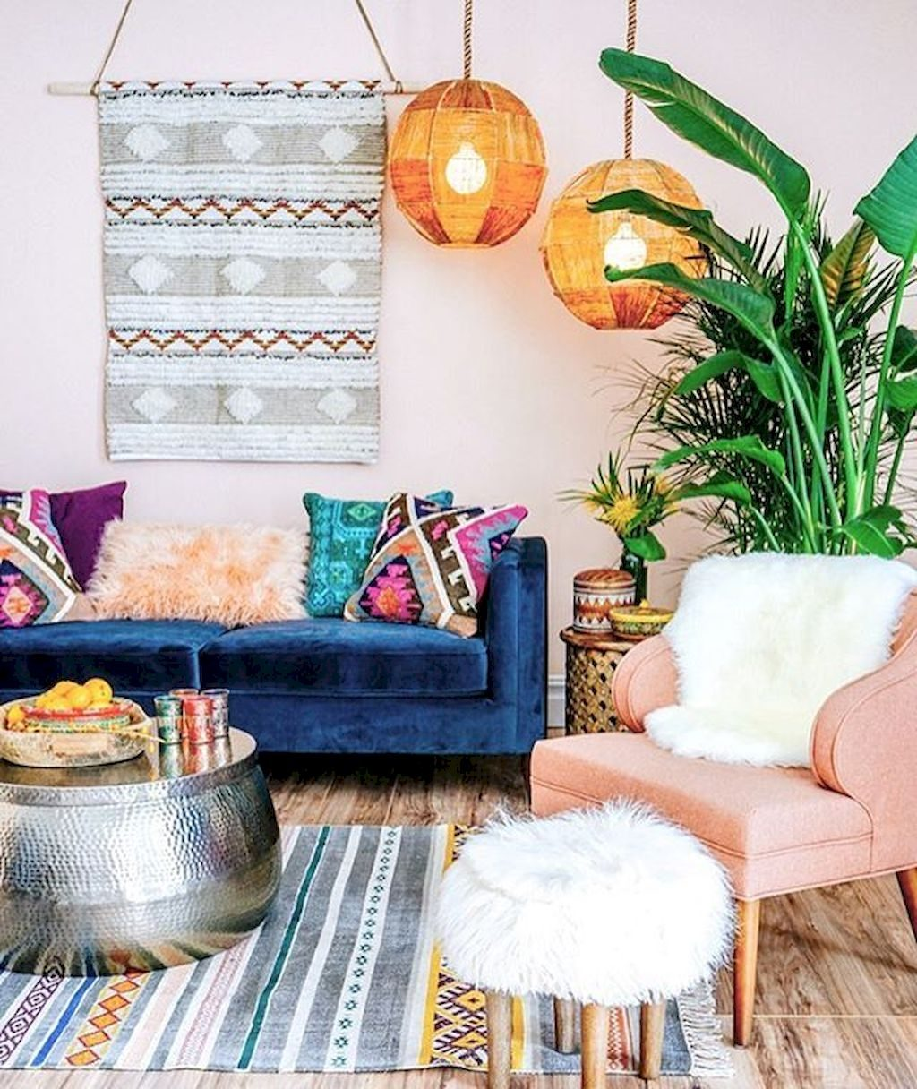 Amazing Ideas Boho Living Room Decor 88 Beautiful Apartment Living