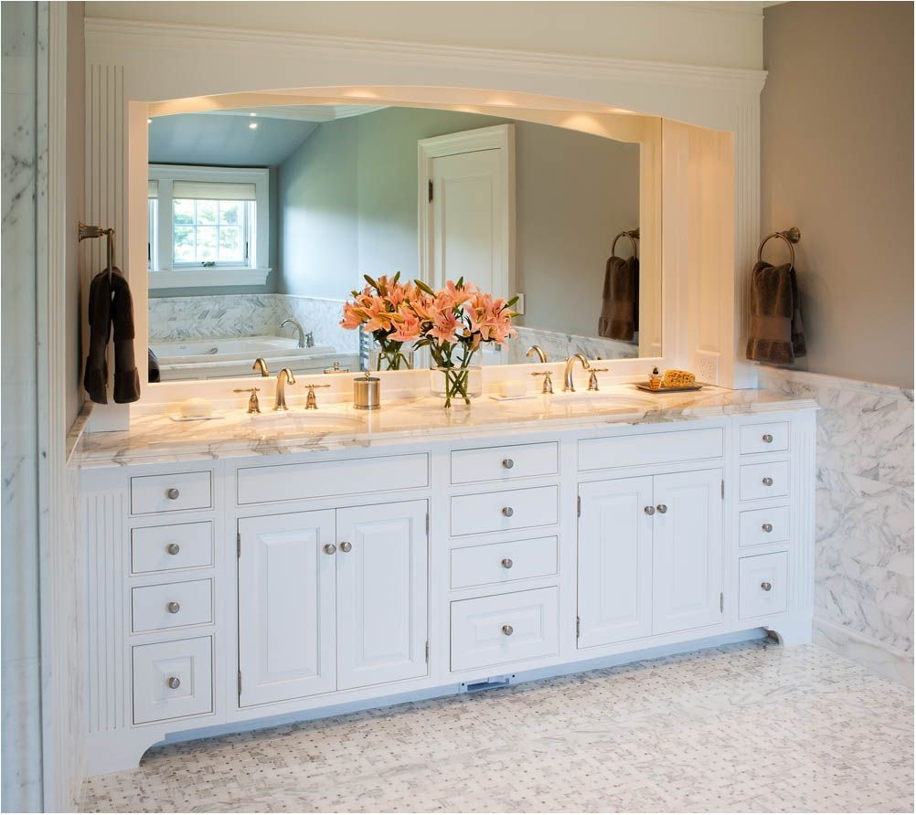 Amazing Original Custom Bathroom Vanities With Makeup Area Custom