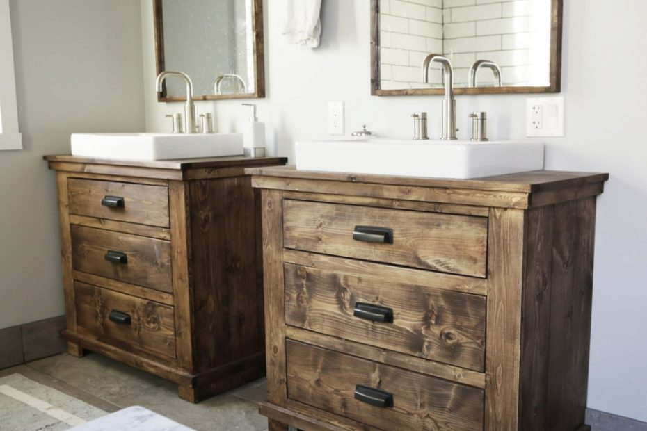 Ana White Rustic Bathroom Vanities Diy Projects