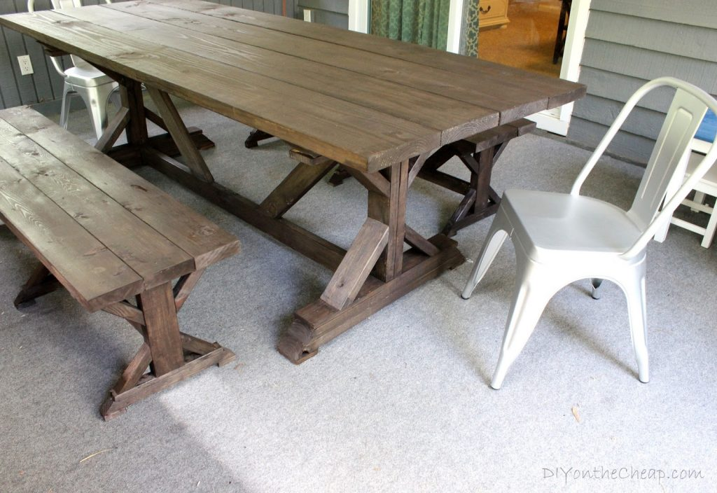 Anthro Inspired Outdoor Farmhouse Table Benches Erin Spain