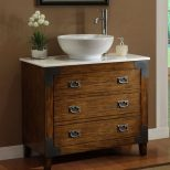 Antique Wooden Vanity Design And Ideas With Decorative Pulls Using