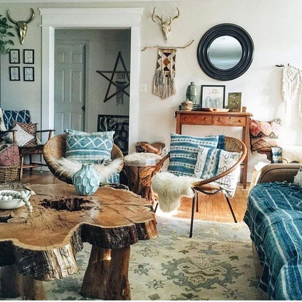 Apartments Bohemian Living Room Design Vintage Decor For Modern
