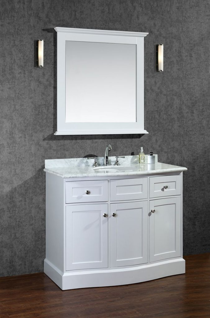 Ariel Montauk 42 Single Sink Bathroom Vanity Set With Mirror