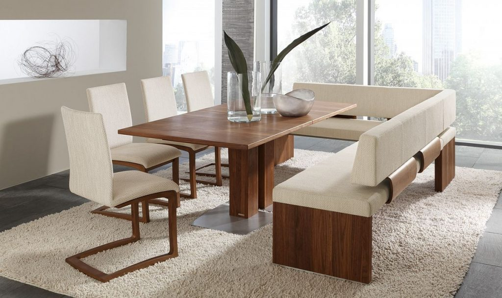 Article With Tag Round Dining Table And Bench Faylinnart