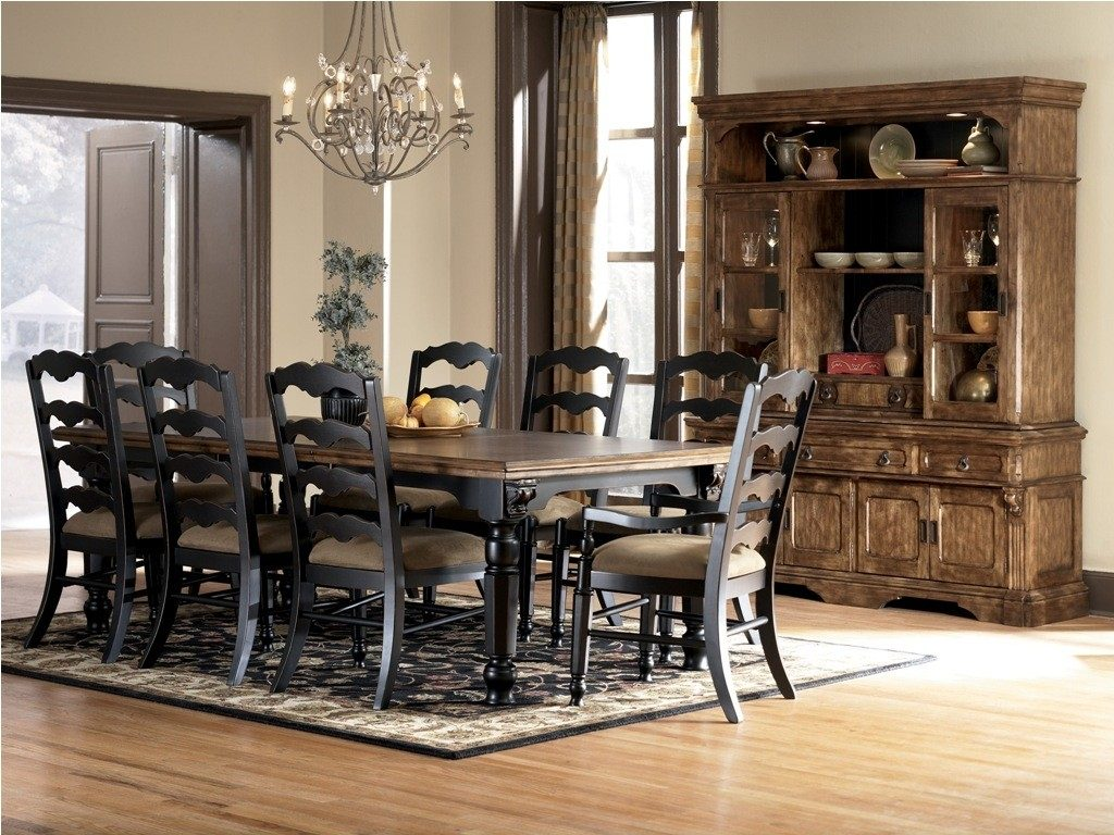 Ashley Furniture Dining Table With 6 Chairs Counter Height Room Set