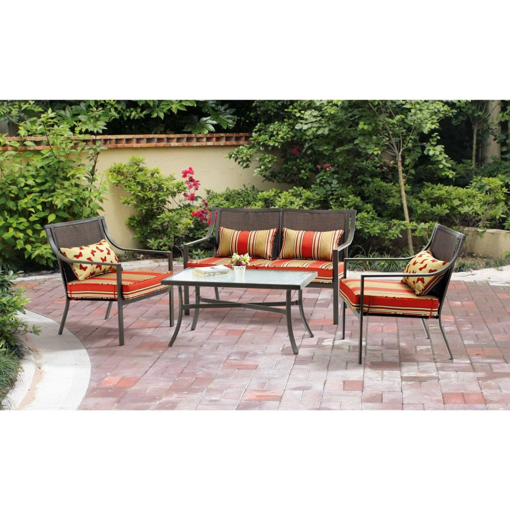 Baner Garden 4 Piece Outdoor Furniture Complete Set Black