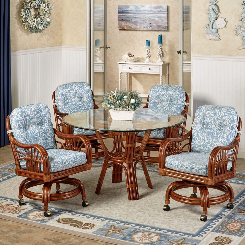 Barrel Dining Chairset Of Room Moda With Casters Upholstered Better