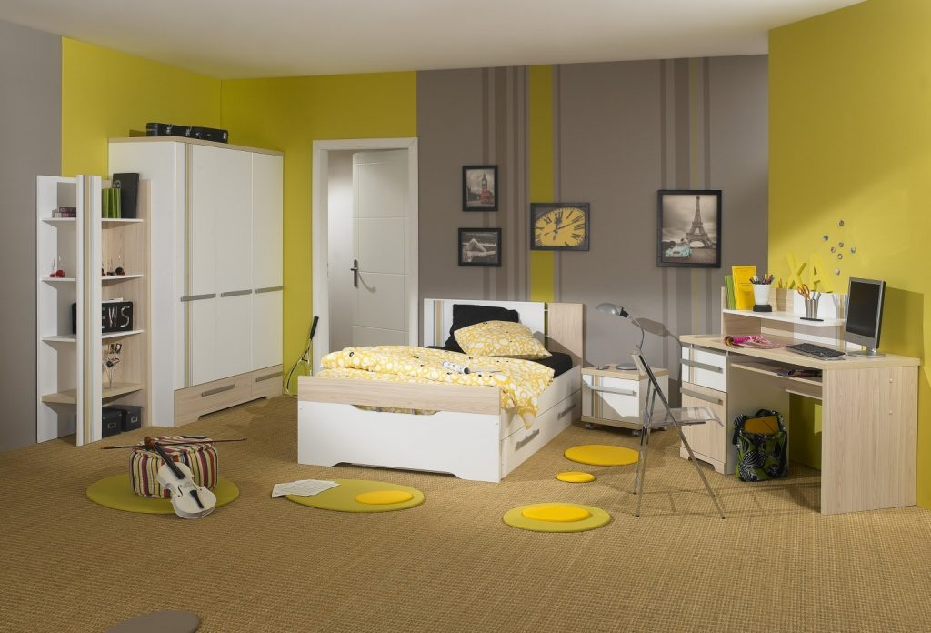 Bathroom And Grey Kids Bedroom Yellow Paint Ideas Black Decor