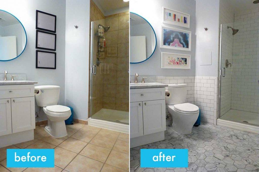 Bathroom Before And After Pictures Complete Ideas Example