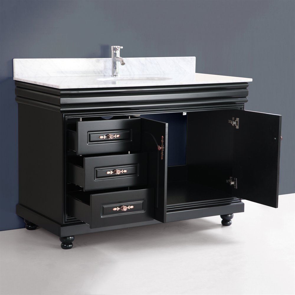Bathroom Glass Bathroom Vanity 36 Vanity With Sink Black Bathroom