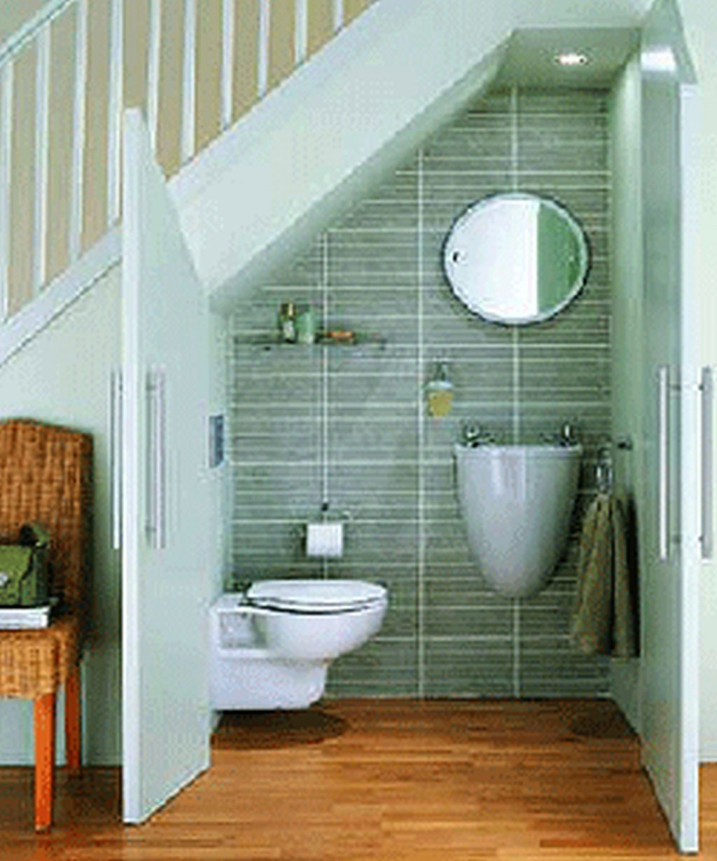 Bathroom Remodel Ideas Small Space Under Stairs Design Remodeling
