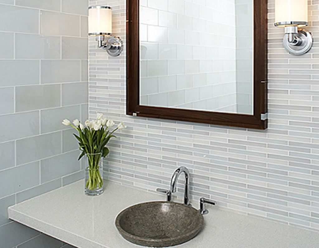 Bathroom Tile Layout Ideas Curved Red Small Tile Shower Enclosure
