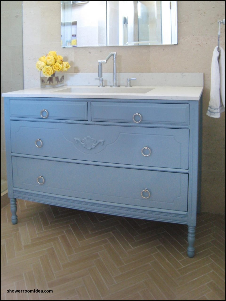 Bathroom Vanities Furniture New How To Turn A Cabinet Into A