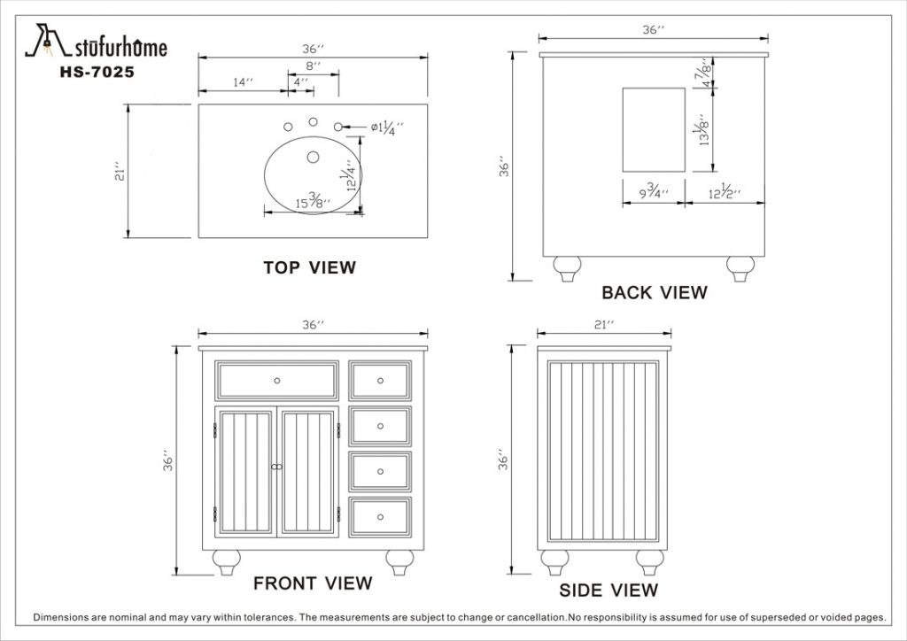 Bathroom Vanity Dimensions Standard For Cabinet Height Vessel Ideas