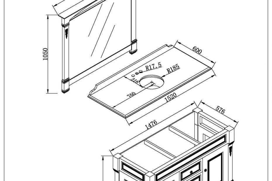 Bathroom Vanity Dimensions Standard Regarding For Cabinet Height