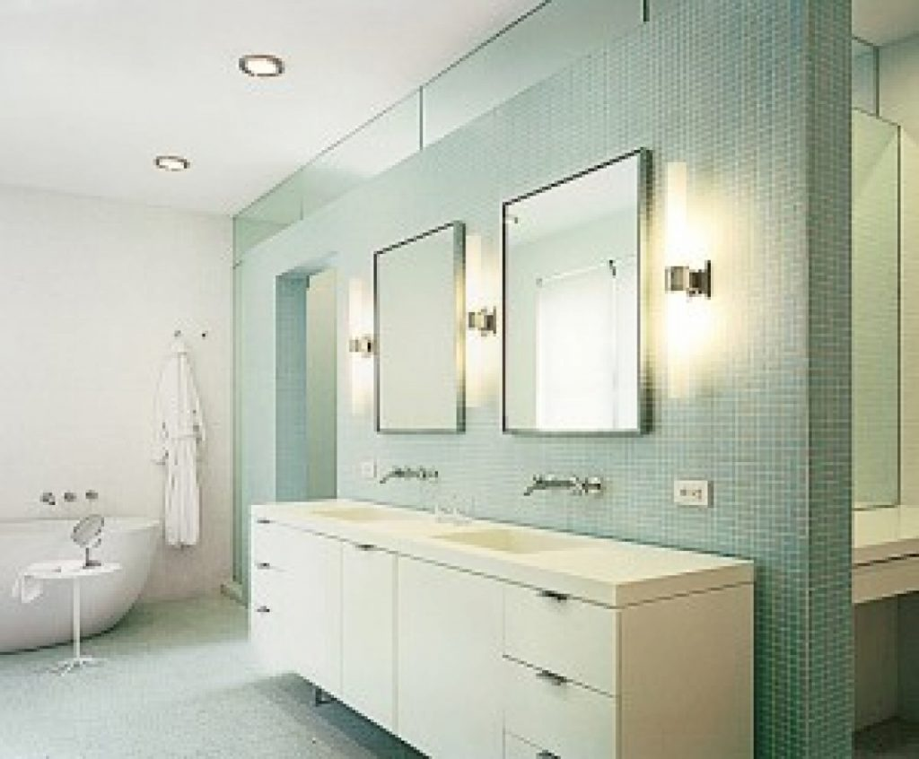 Bathroom Vanity Light Fixtures Ideas With Regard To Mid Century