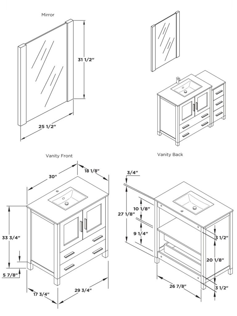 Bathroom Vanity Sizes Luxurius About Remodel Small Home Decor