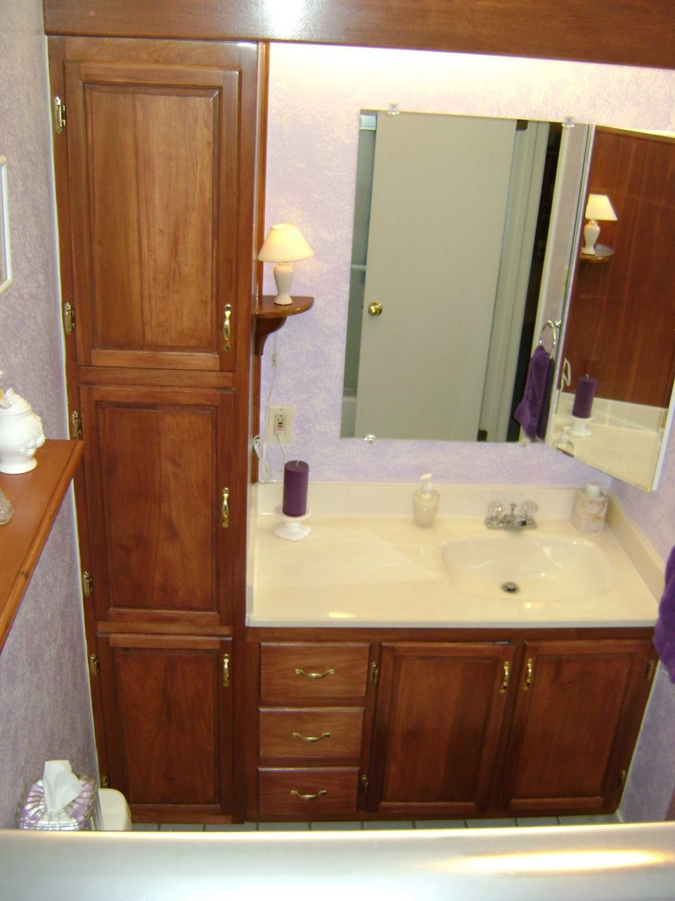 Bathroom Vanity With Linen Cabinet Pictures White And Stunning