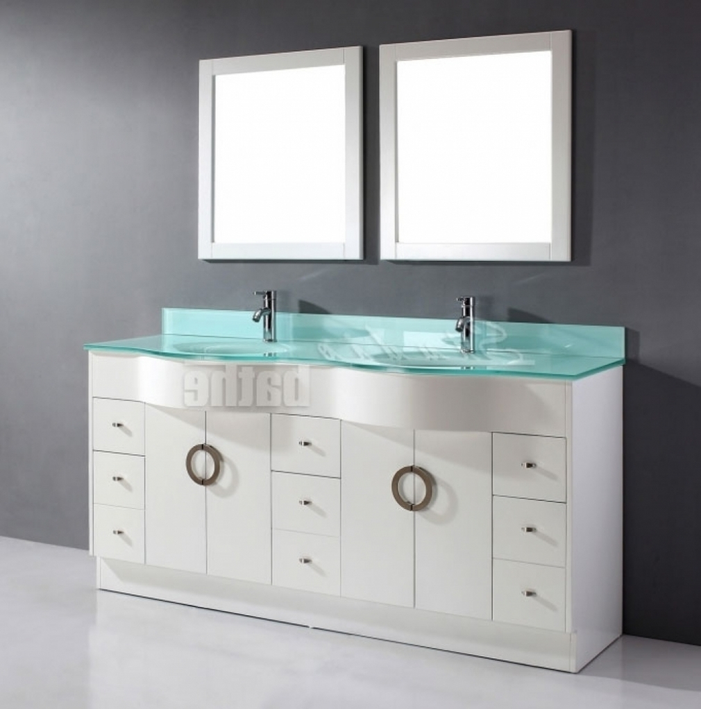 Bathroom Zoe 72 Inch Double Sink White Bathroom Vanity Stone Double
