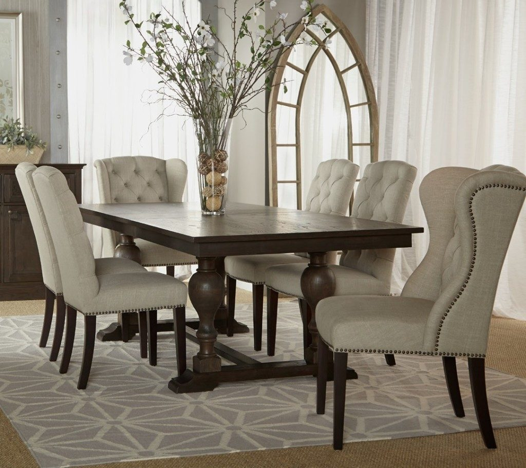 Beautiful White Tufted Dining Room Chairs 77 In Home Kitchen Design