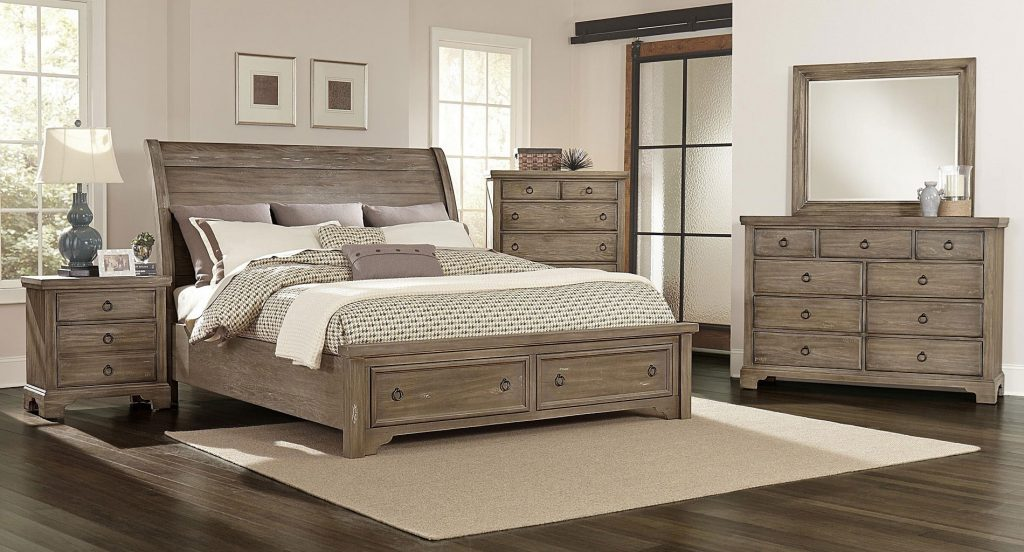 Bedroom Distressed Solid Wood Bedroom Furniture Black Sets White