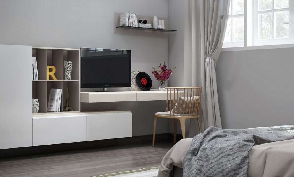 Bedroom Effective Bedroom Tv Stand Storage Design Floating