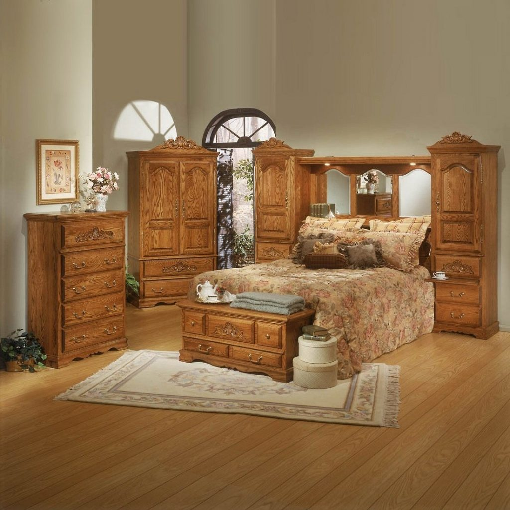 Bedroom Furniture Set With Armoire Wicker Solid Wood Recessed