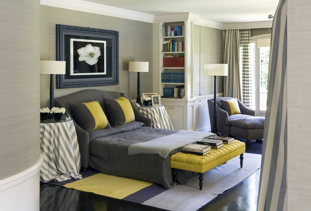 Bedroom Original Blue Yellow And Grey Bedroom Ideas With M