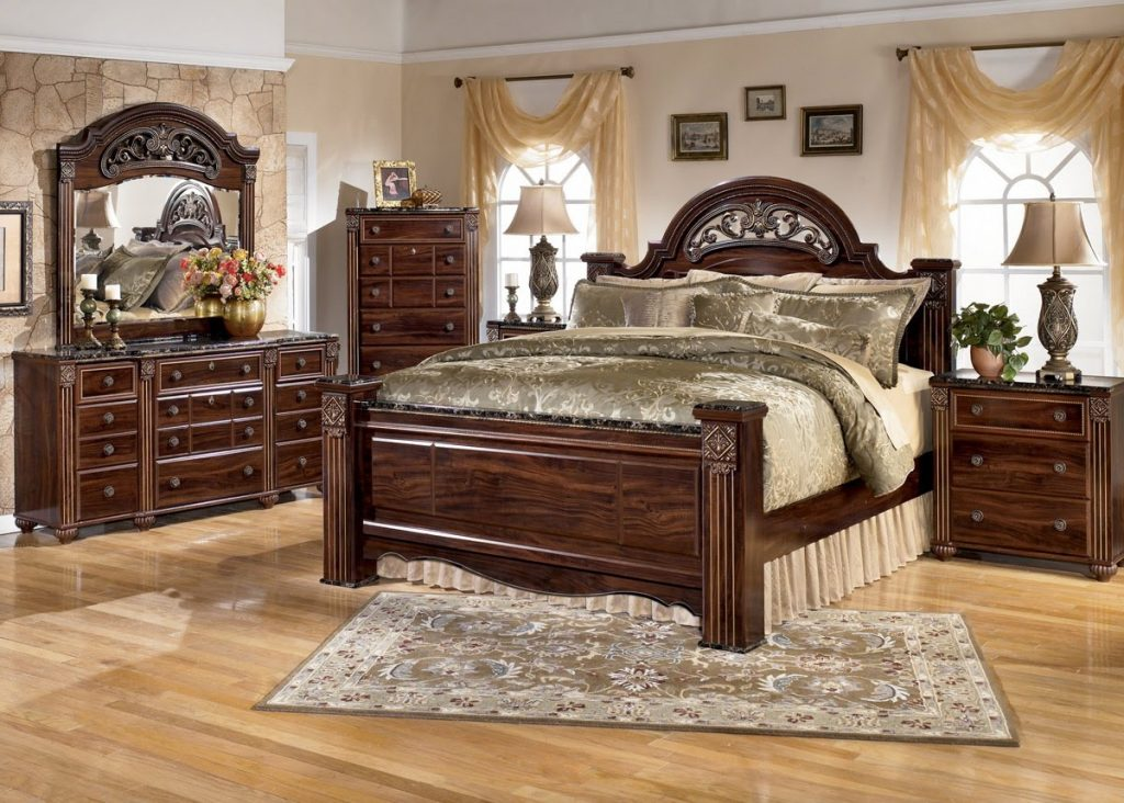 Bedroom Set With Marble Top For Surprising Ashley Furniture Shay