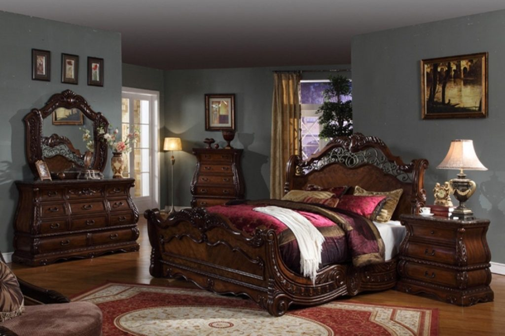 Bedroom Set With Marble Top In Sets Ashley Faux Furniture Victorian